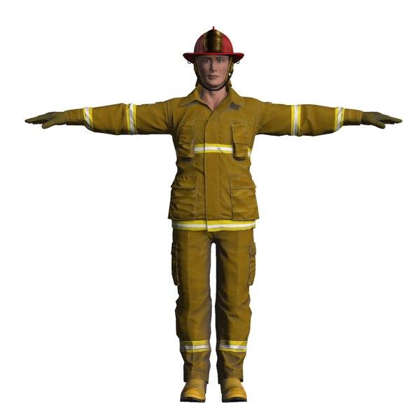 fireman man 3D model