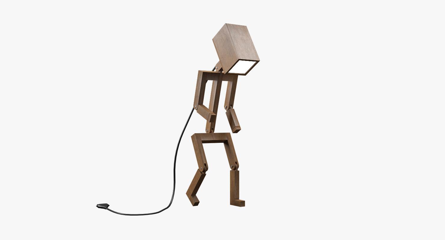 3D model lamp figure