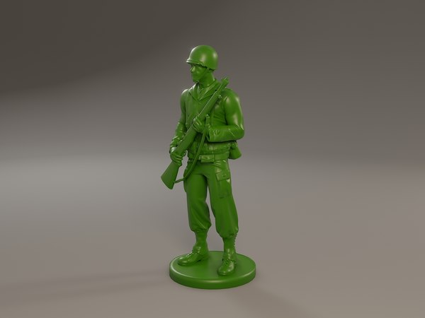 3D american soldier ww2 standguard