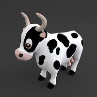 3D cow toon model