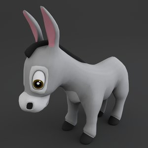 3D model donkey toon