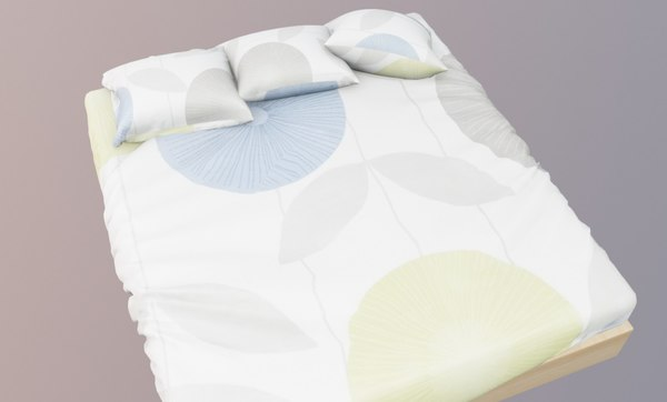 bed sheet pillows 3D model