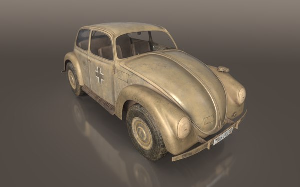 3D model german wwii staff car vehicle