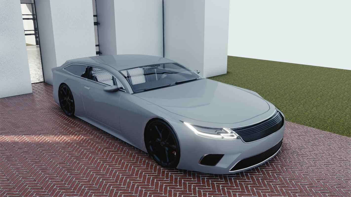 car blender eevee s 3D model