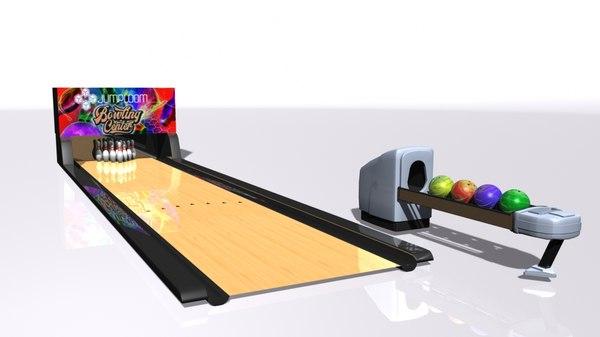 bowling lane 3D model
