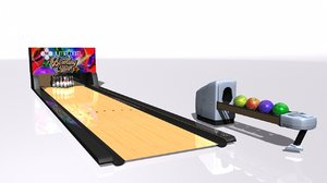 bowling lane 3D model