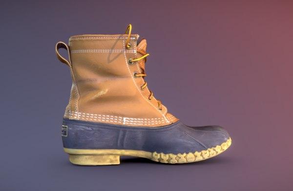 3D l bean boot model