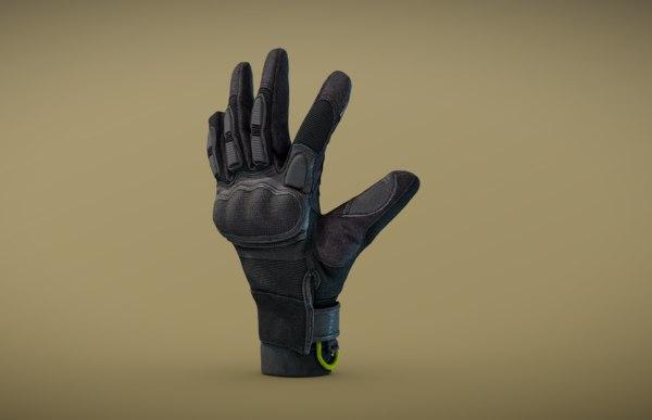 tactical glove 3D