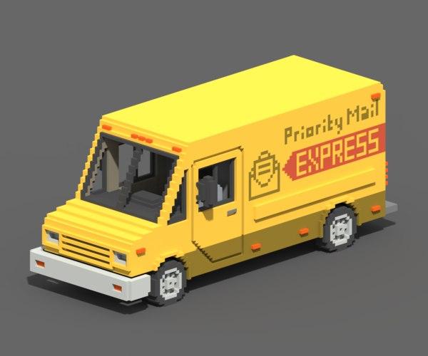 voxel mail van 3D model