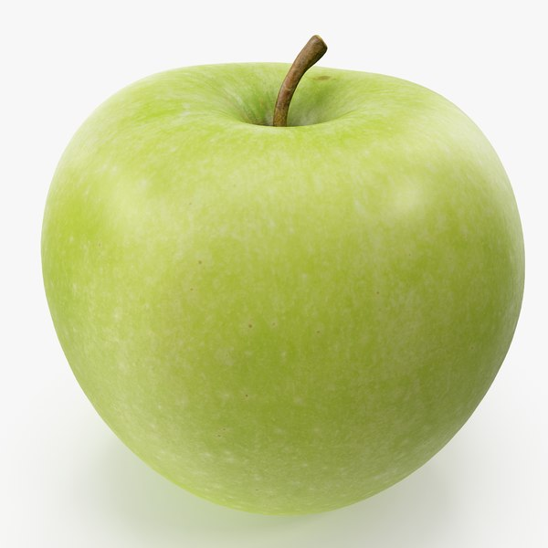 3D apple granny smith 03
