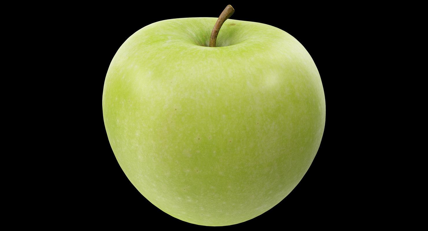 3D apple granny smith 03