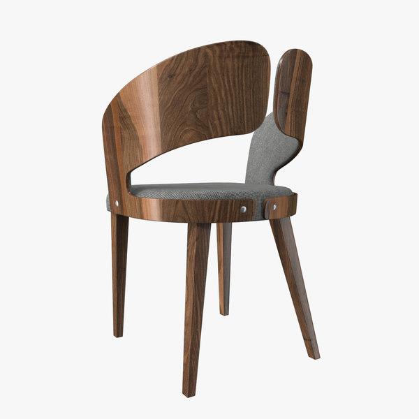 wood chair 3D