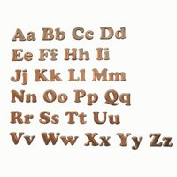 3D alphabet pack model