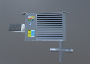 ac unit piping 3D model