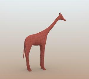giraffe base mesh 3D model