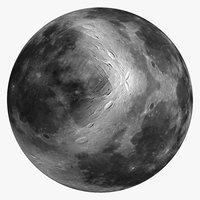 3D moon 8k model