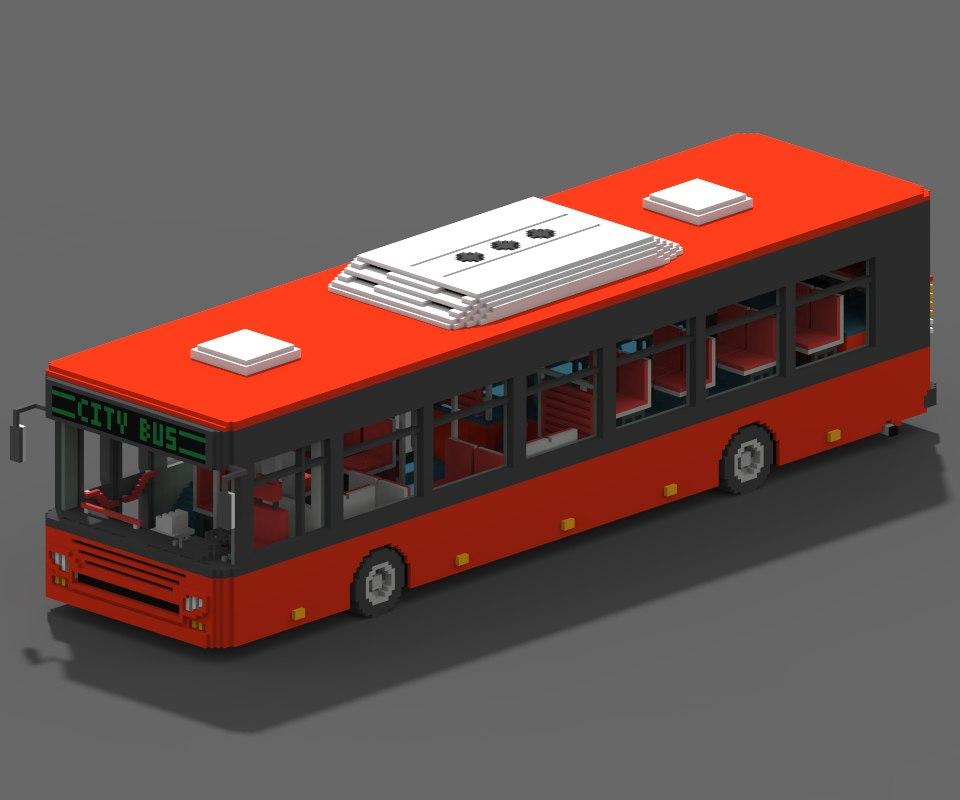 3D voxel city bus