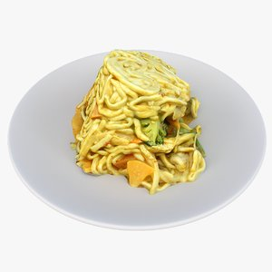 3D asian lunch model