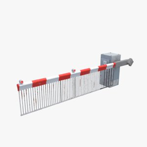railway barrier 3D