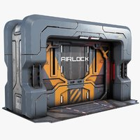 Sci-fi Gate Door Game Ready PBR