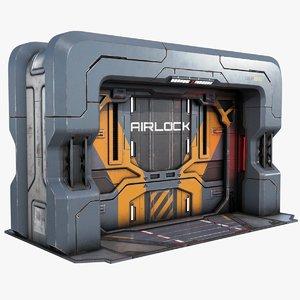 sci-fi gate pbr model