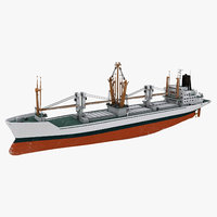 cargo ship bahrain 3D model