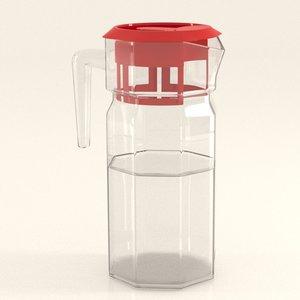 3D water jug model
