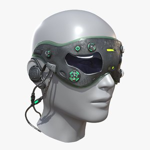 3D sci fi mask model