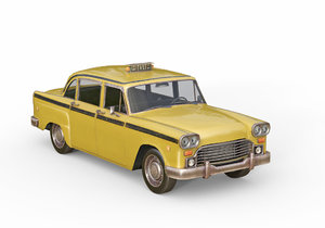 3D old taxi model