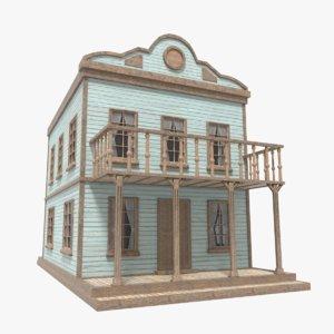 3D western house