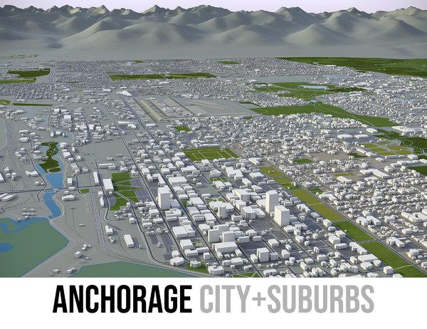3D city surrounding area -