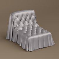 3D model busnelli bohemian armchair 1
