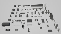 Hard Surface Kitbash Pack - 60+ Objects