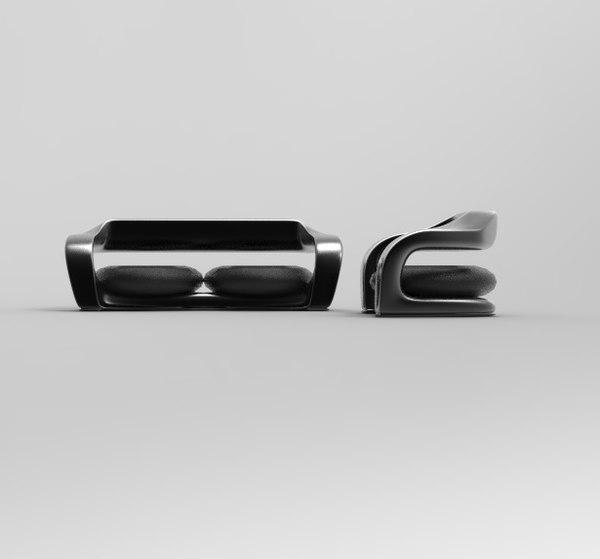 modern sofa chair 3D model