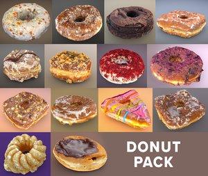 donuts doughnut 3D