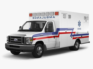 3D model e-series ambulance interior