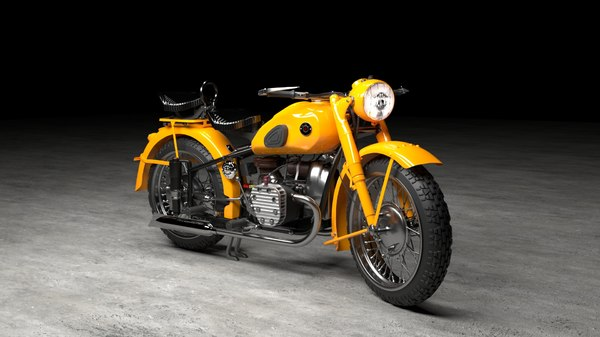 m-72 russian motorcycle russia 3D model