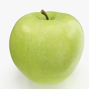 apple granny smith 03 3D model