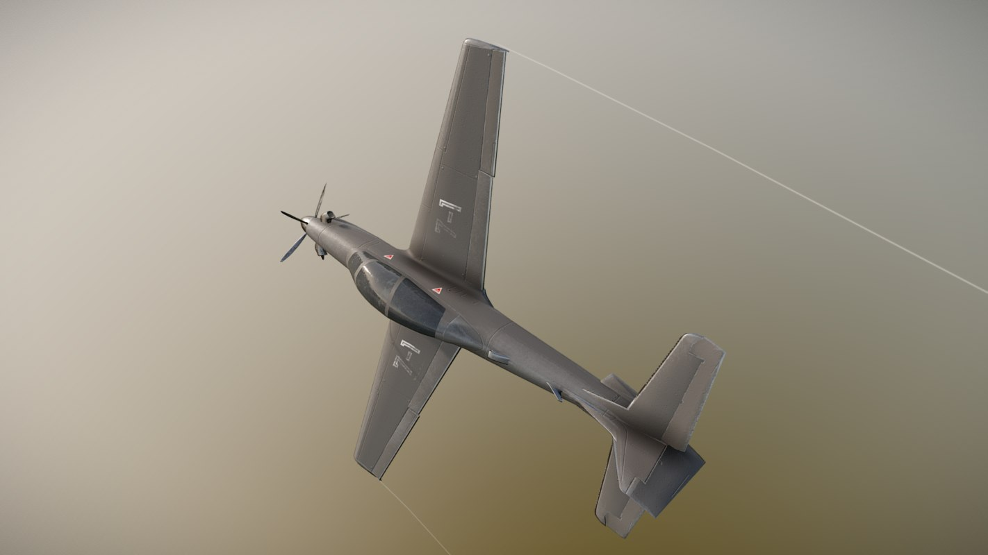 emb312 jet fighter 3D model