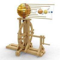 Renaissance model of solar system