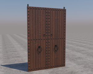3D traditional moroccan door