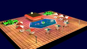 pool cartoon model
