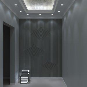 3D lighting interior coridor model
