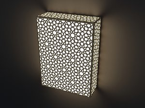 wall lamp east ornament 3D model