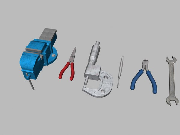 bench vise nose pliers 3D model