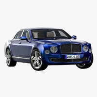 3D 2013 bentley mulsanne model
