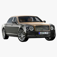 3D 2017 bentley mulsanne ewb model