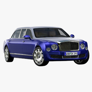 2017 bentley mulsanne limousine 3D model