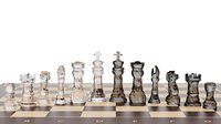 Low Poly Chess set Glass material(1)
