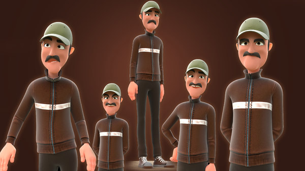 3D toon man - cartoon model